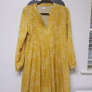 mid-length yellow dress